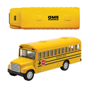 "5"" Replica School Bus with Stop Sign"