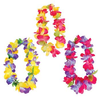 Jumbo Silk Flower Leis