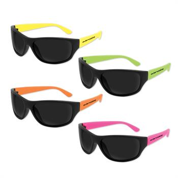 S36053X - Beachcomber Sunglasses Assorted Neon Colors